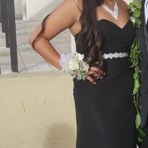 Black strapless Prom Dress